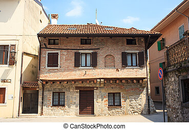 Cividale del Friuli - Italy - View of houses, Cividale del...