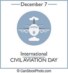 civiel, december, day., 7, luchtvaart, internationaal