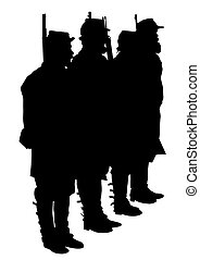 civiel, soldaten, acht, oorlog