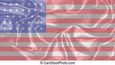 civiel, verbond vlag, zijde, oorlog