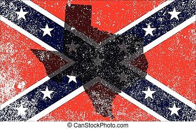 civiel, vlag, rebel, oorlog