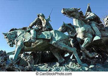 civiel, washington dc, standbeeld, oorlog