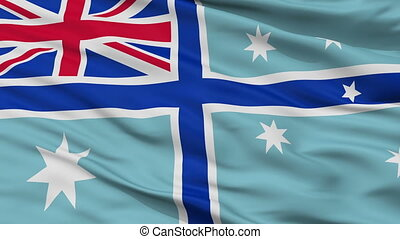 Civil Air Ensign Of Australia Flag Closeup Seamless Loop