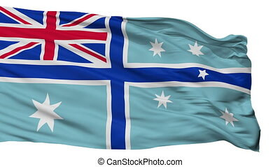 Civil Air Ensign Of Australia Flag Isolated Seamless Loop