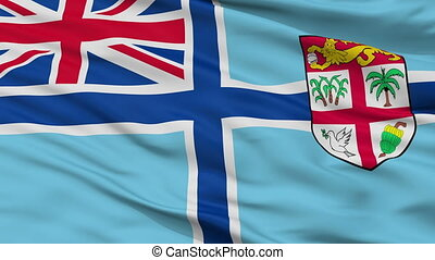 Civil Air Ensign Of Fiji Flag Closeup Seamless Loop