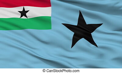 Civil Air Ensign Of Ghana 1964 1966 Flag Closeup Seamless Loop