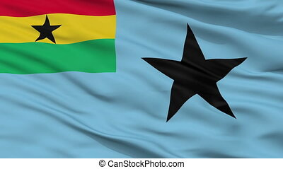 Civil Air Ensign Of Ghana Flag Closeup Seamless Loop