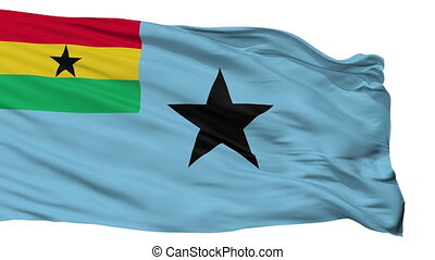 Civil Air Ensign Of Ghana Flag Isolated Seamless Loop