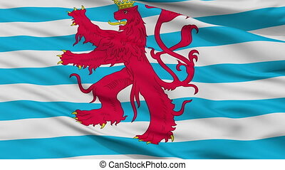 Civil Air Ensign Of Luxembourg Flag Closeup Seamless Loop