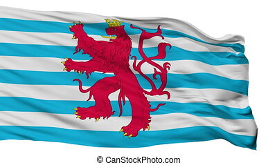 Civil Air Ensign Of Luxembourg Flag Isolated Seamless Loop