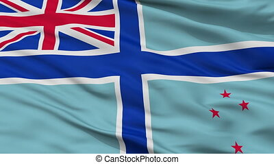 Civil Air Ensign Of New Zealand Flag Closeup Seamless Loop
