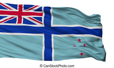 Civil Air Ensign Of New Zealand Flag Isolated Seamless Loop