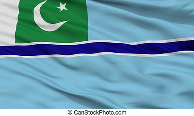 Civil Air Ensign Of Pakistan Flag Closeup Seamless Loop
