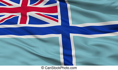 Civil Air Ensign Of United Kingdom Flag Closeup Seamless Loop
