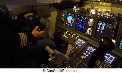Pilots of passenger aircraft before departure
