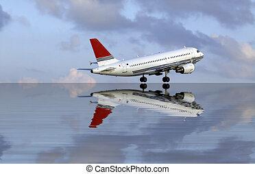 Civil Aircraft - Series of images depicting various civil ...