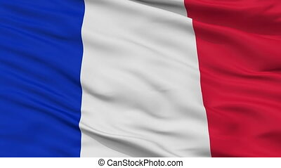 Civil And Naval Ensign Of France Flag Closeup Seamless Loop...