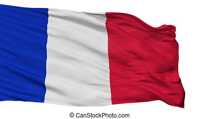 Civil And Naval Ensign Of France Flag Isolated Seamless Loop...