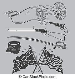 civil, arte, guerra, clip, cobrança