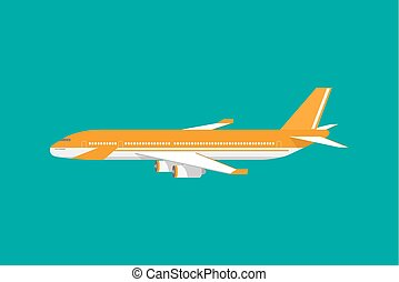 Civil aviation travel passenger air plane