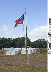 civil, bandera, guerra