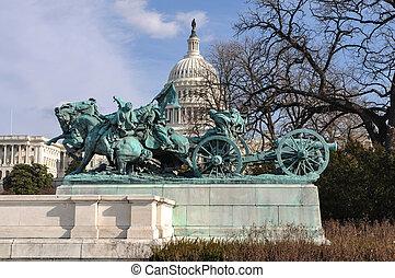 civil, commémoratif, washington, guerre, dc