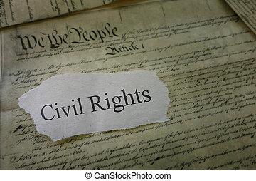 civil, concept, droits