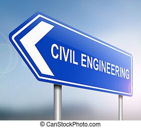 civil, concept., ingénierie