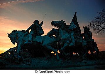 civil, dc., monumento conmemorativo, washington, guerra