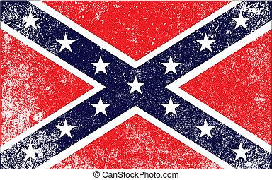 civil, drapeau, guerre, confédéré
