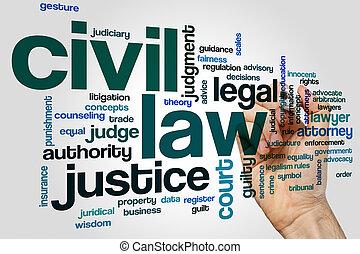 civil, droit & loi, mot, nuage