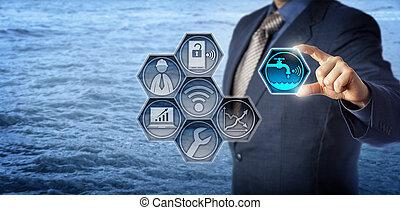 Civil Engineer Activates Smart Water Management - Blue chip...