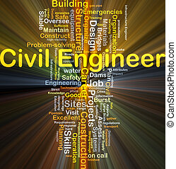 Civil engineer background concept glowing