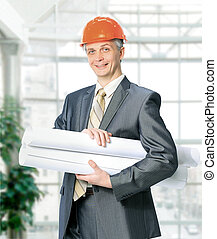Civil engineer in the office.