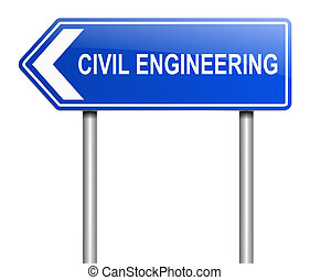 Civil engineering concept. - Illustration depicting a sign...