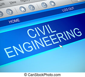 Civil engineering concept. - Illustration depicting a...