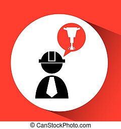 civil engineering icon with icon, vector illustration