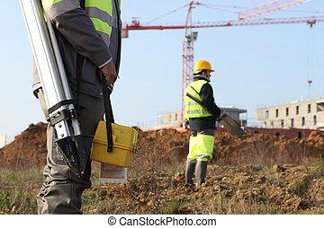 Civil engineers onsite