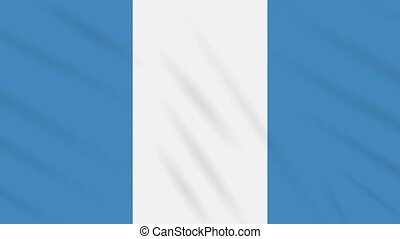 Civil flag of Guatemala waving cloth, ideal for background, loop