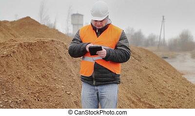 civil, fonctionnement, tablette, ingénieur