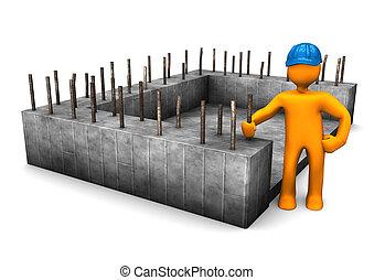 civil, fondation, ingénieur
