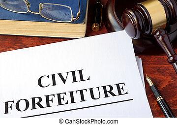 civil, forfeiture