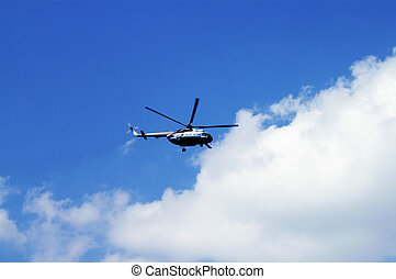 civil, helicopter, sky