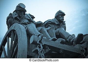 civil, katona, háború