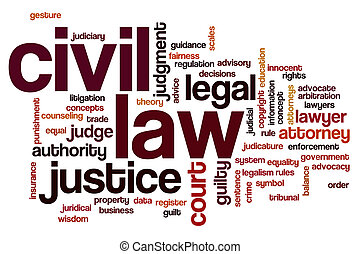Civil law word cloud concept