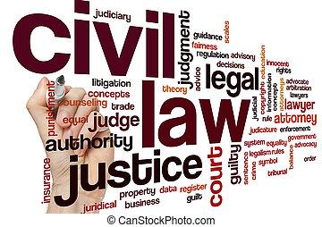 civil, lei, palavra, nuvem