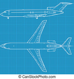 civil, repülőgép, modern