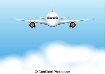 civil, repülőgép, repülőgép