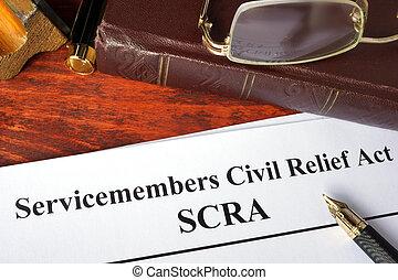 civil, servicemembers, alivio, acto