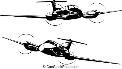 Civil utility aircraft. Available EPS-8 vector format separated by groups and layers for easy edit